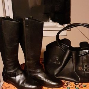 Cole Haan boots and purse